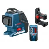 Лазерен Нивелир Bosch GLL 3-80 Professional + BM1+LR2
